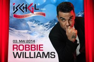 Am 03.05.2014 beehrt Robbie Williams Ischgl